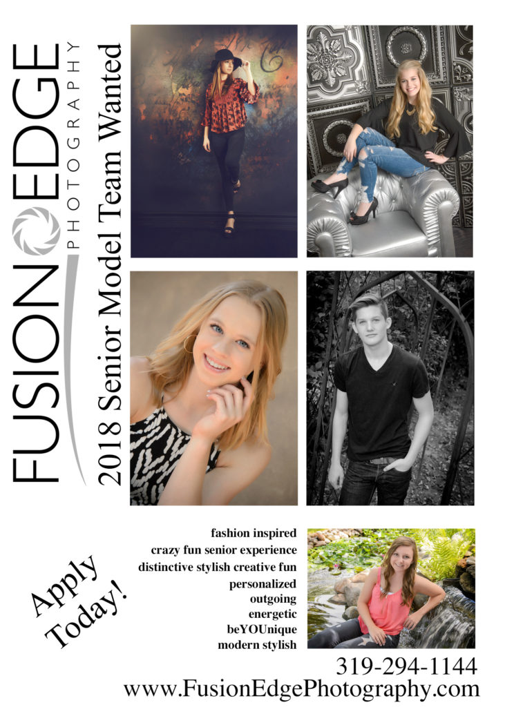 2018 High School Senior Models Wanted!