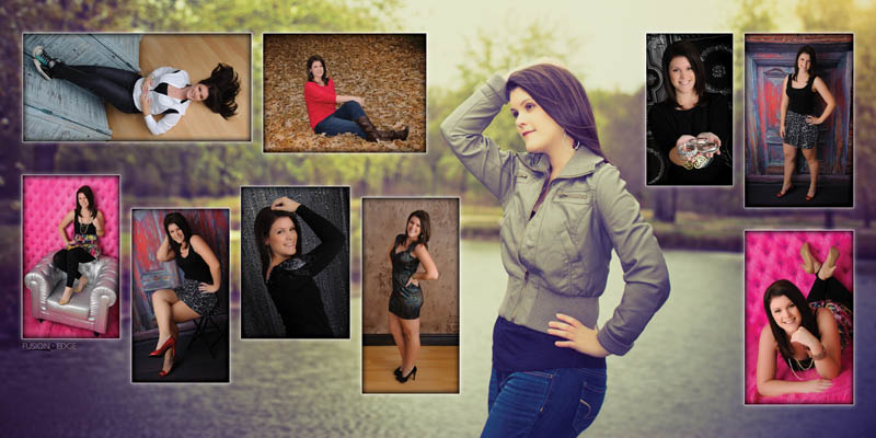 Girls Senior Picture Collage