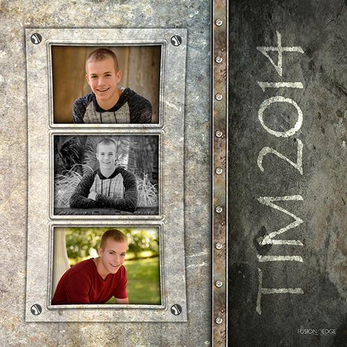 Cedar Rapids Senior Photography Creative Collages Fusion Edge