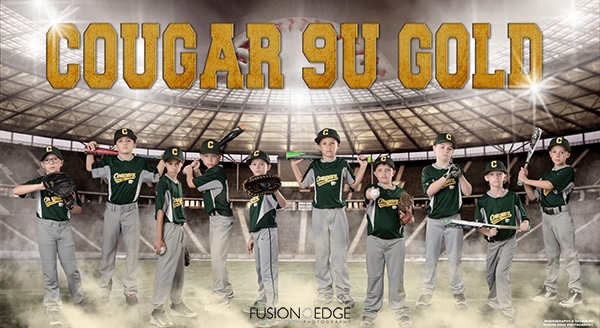 CR Cougar 9U baseball team banner poster league picture