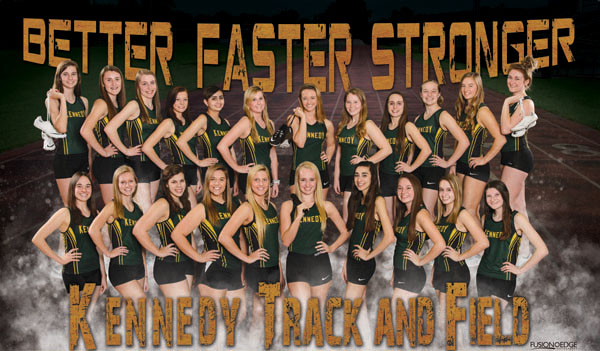 CR Kennedy high school track and field team poster pictures
