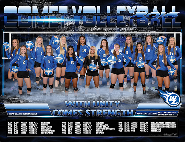West Liberty Comet High School volleyball team poster
